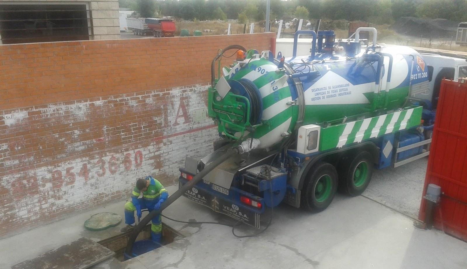 camiones cisterna desatrancos Madrid tuberías