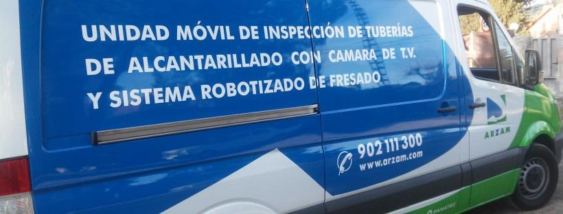 inspección de tuberías y red de alcantarillado Madrid ARZAM