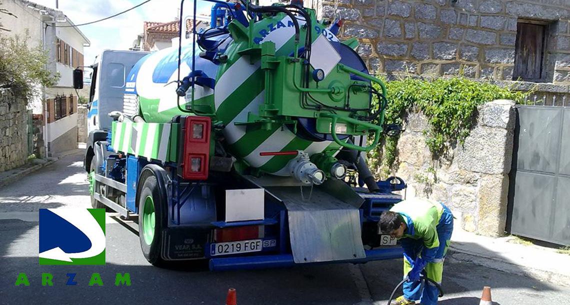 desatascos camión cuba Guadarrama ARZAM