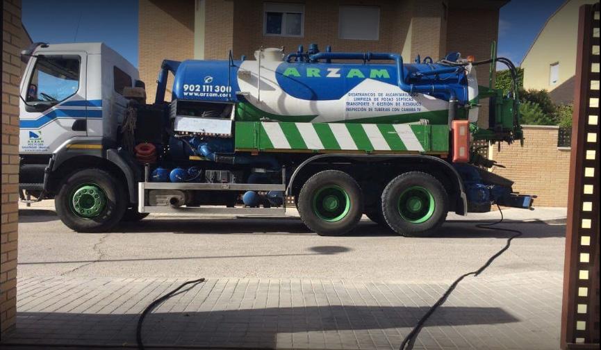desatascos camion cuba aldea fresno